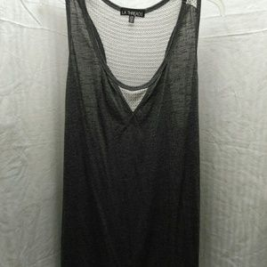 L.A. Threads exercise tank top blouse size 2X NWT.